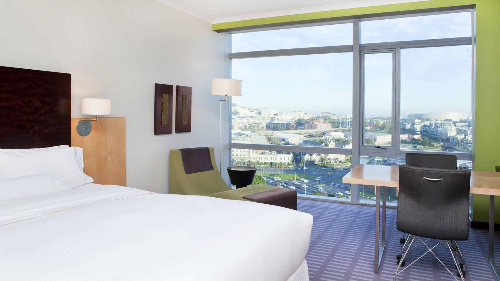 Westin Cape Town Executive Club Room with sea view of Cape Town Stadium