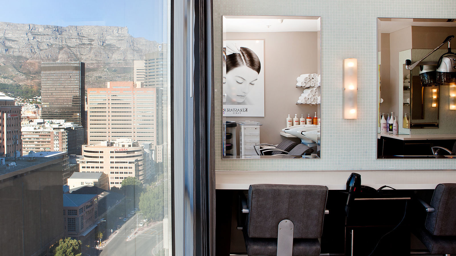 Cut Above Hair Salon at The Westin Cape Town with mountain view
