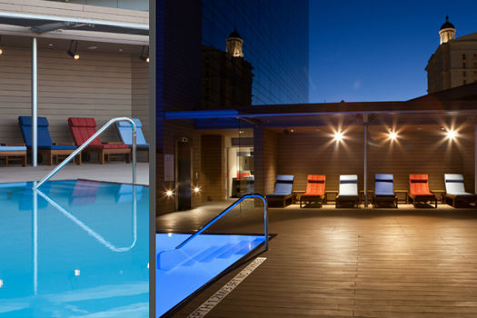 Westin Cape Town Harbour Dock Outdoor pool with lights on