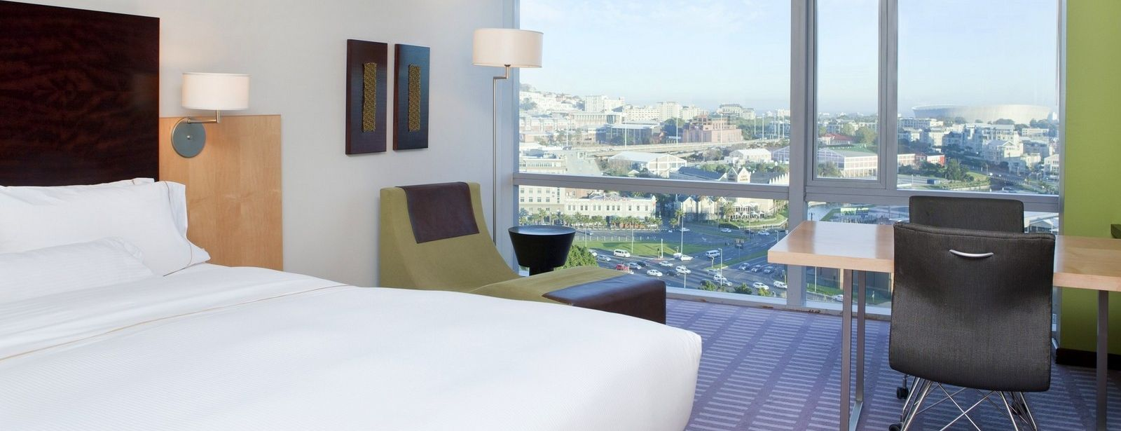 Westin Cape Town Deluxe Room with sea view of Cape Town Stadium