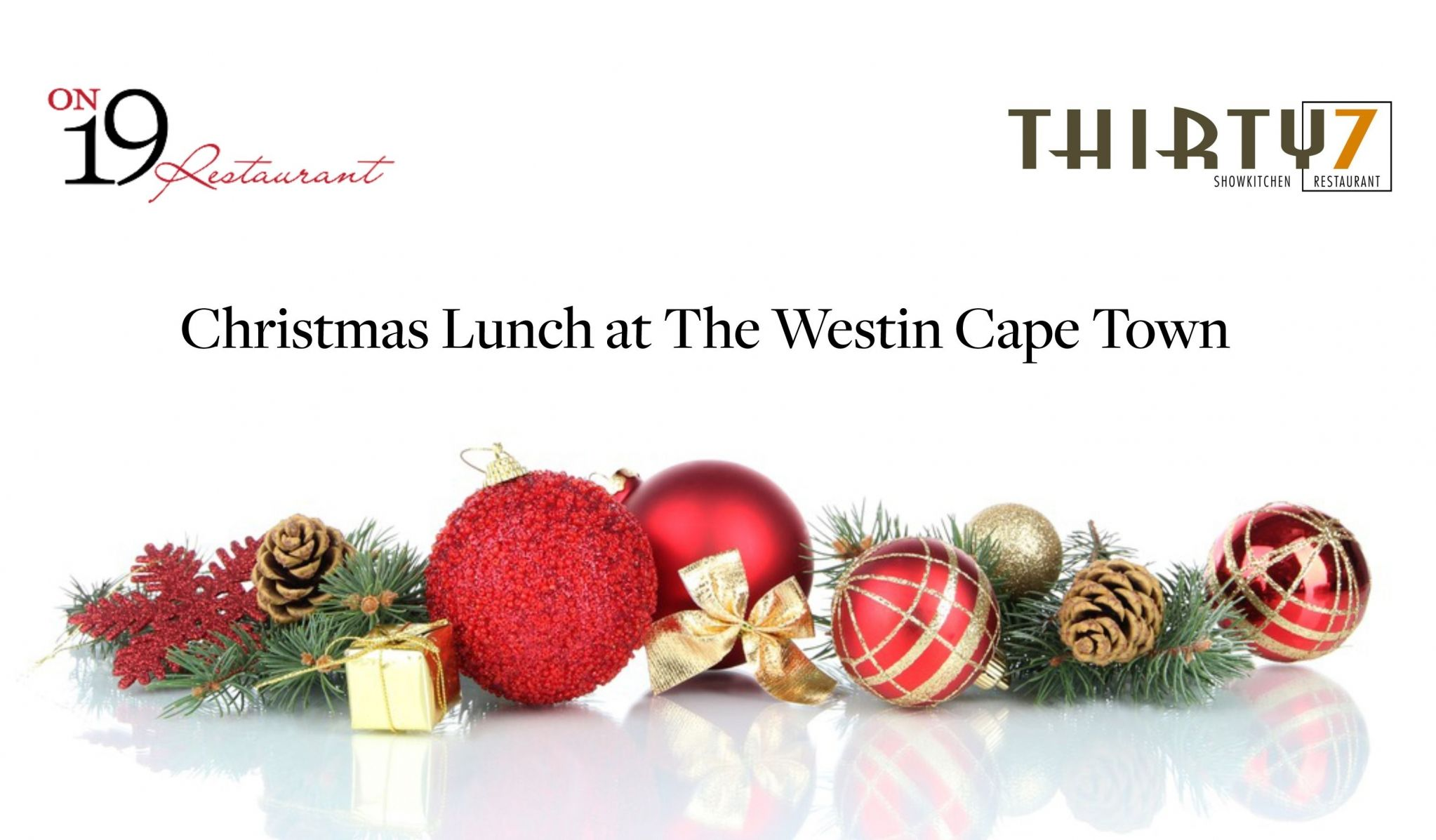 Westin Cape Town Christmas Lunch at The Westin Cape Town