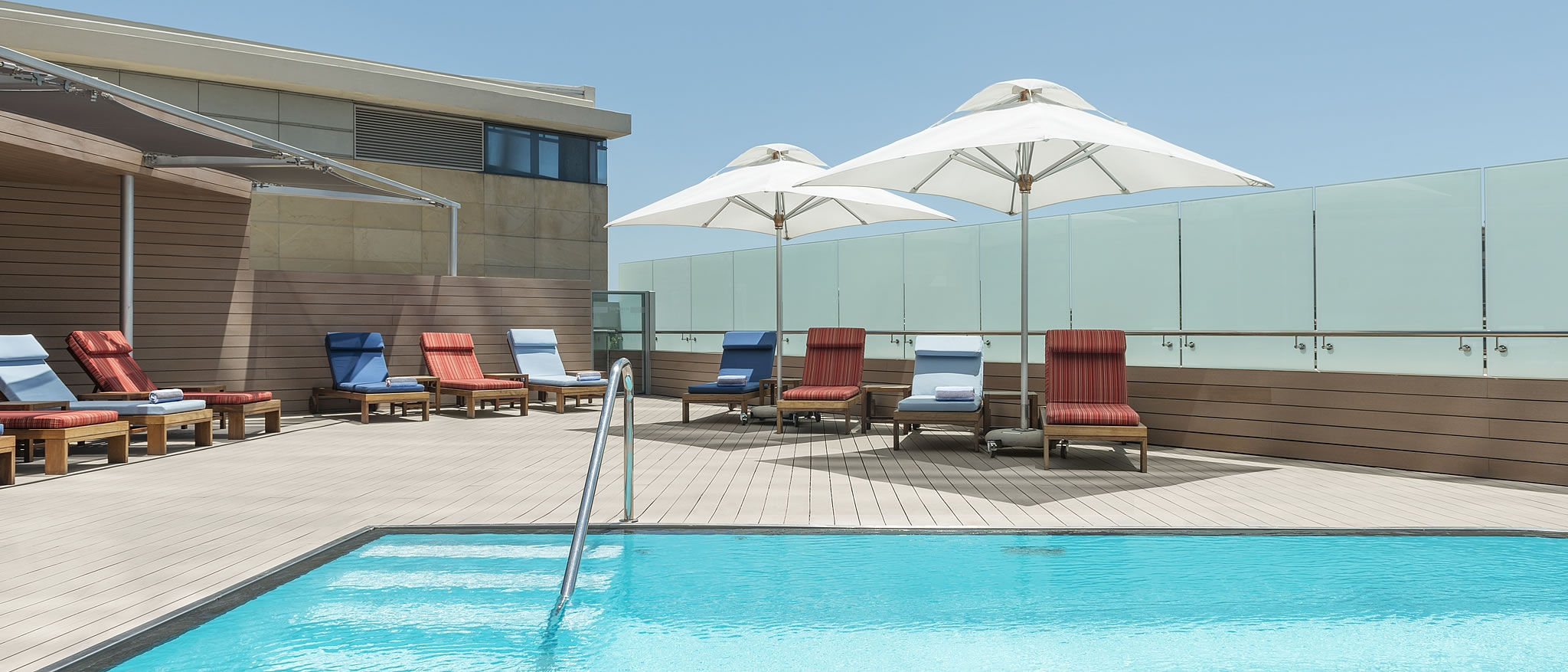 Westin Cape Town Harbour Dock Outdoor pool with pool beds