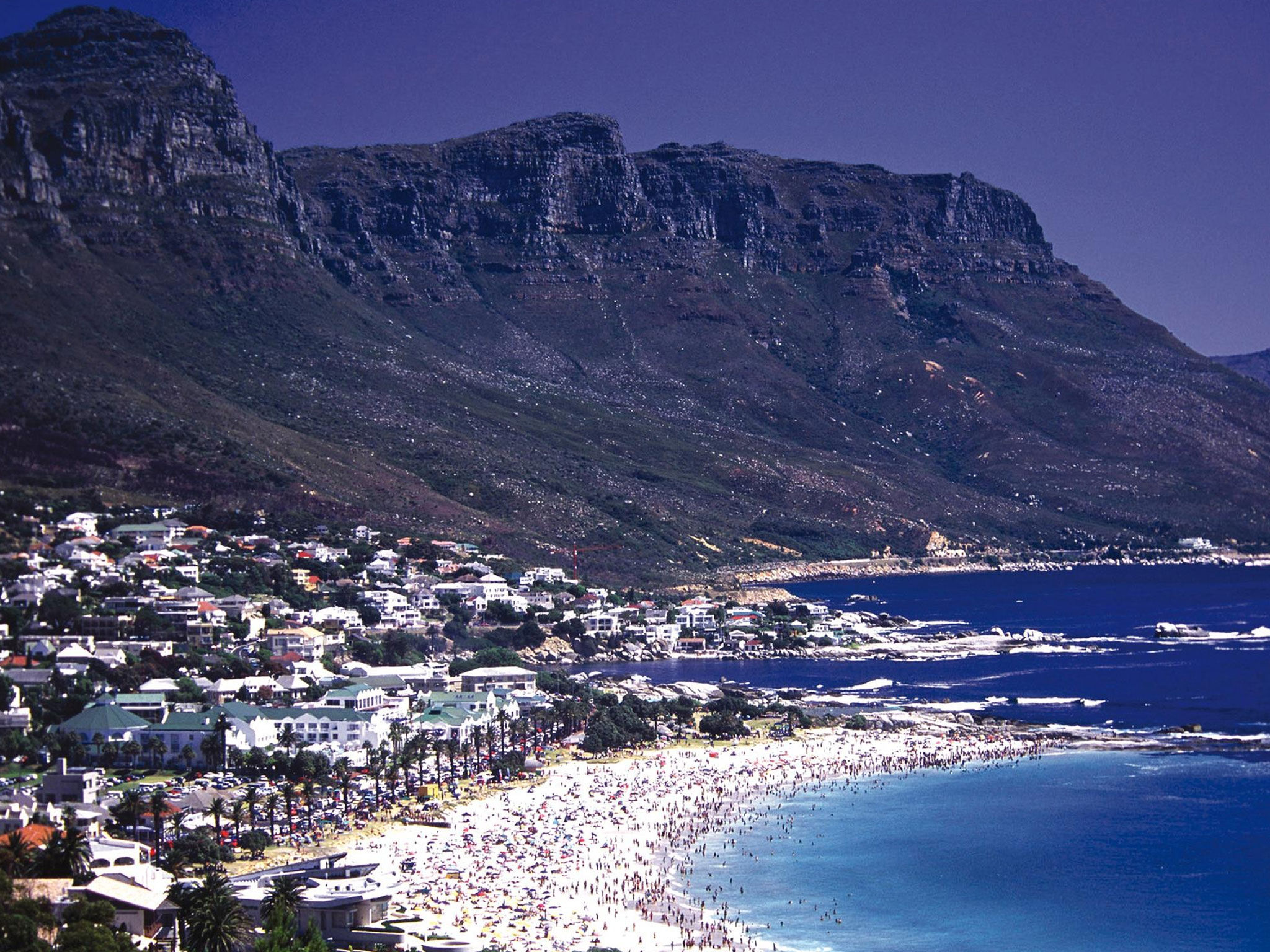 Westin Cape Town Tours view of Camps Bay and Twelve Apostles Mountains