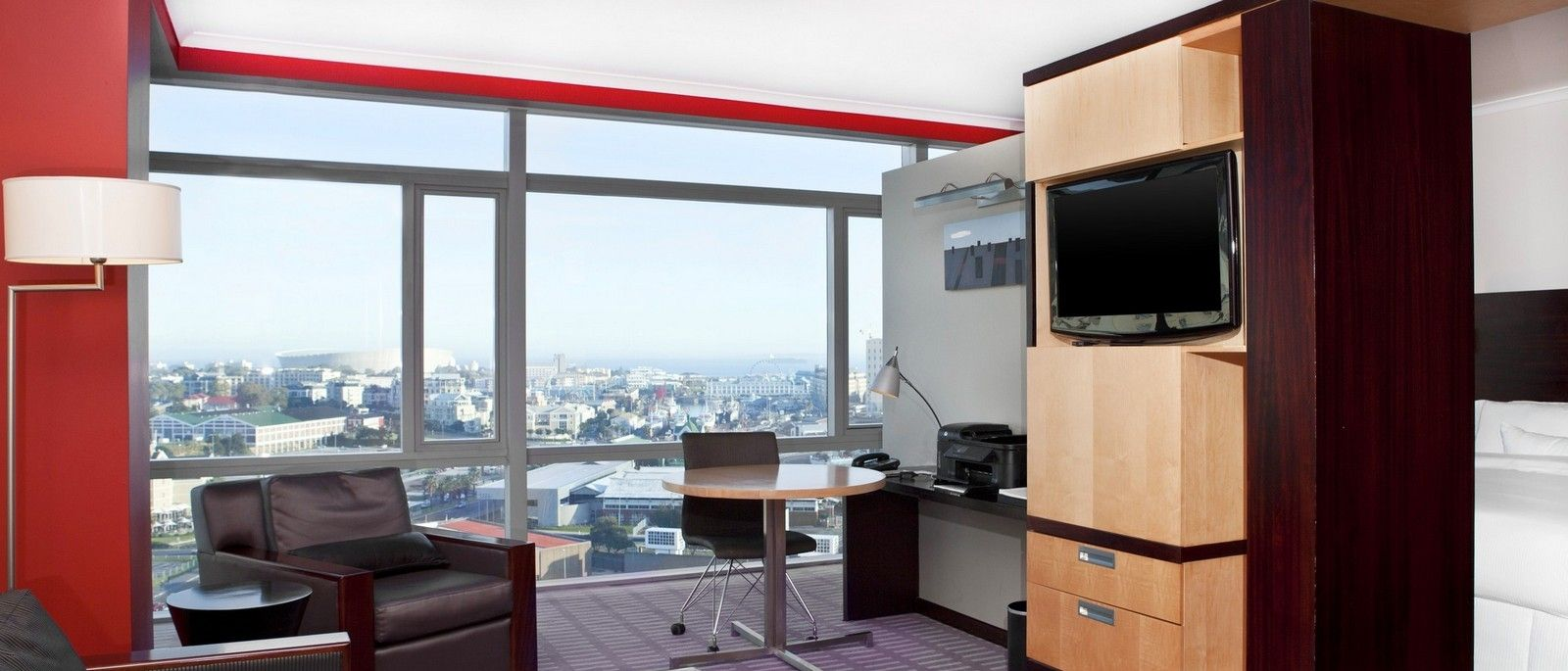 Sample Westin Cape Town Room image with City and Ocean View